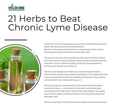 "Image ""21 Herbs to Beat Chronic Lyme Disease"" eBook"