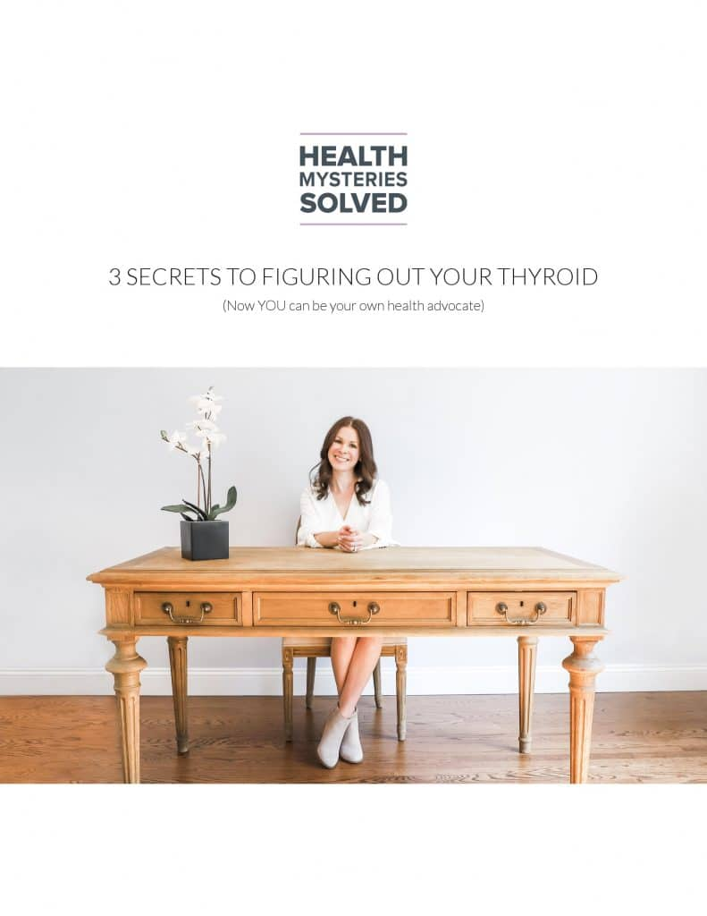 """Image """"3 Secrets to Understanding Your Thyroid"""" eGuide"""