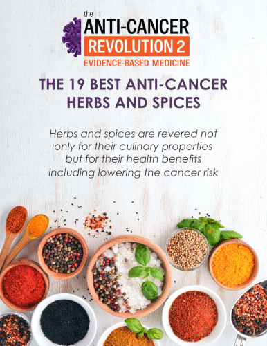 """Image """"19 Best Anti-Cancer Herbs and Spices"""" report"""