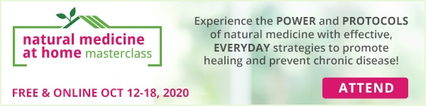 """Banner """"Attend Natural Medicine at Home Masterclass"""""""