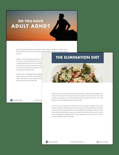 """Image """"Adult Brain Assessment + Elimination Diet"""" eBundle"""