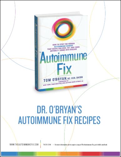"""Autoimmune Fix Recipes"" eBook"